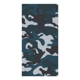 Blue Camouflage Card