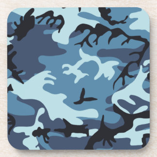 Blue Camouflage Cork Coaster