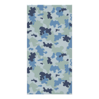 Blue Camouflage II Card