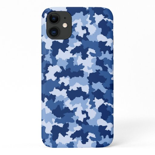 Blue Camouflage iPhone 11 Case