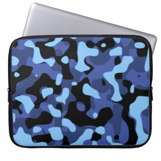 Blue Camouflage Laptop Computer Sleeves