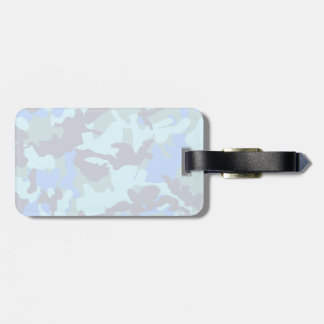 Blue Camouflage Luggage Tag