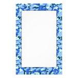 Blue Camouflage Military Background Stationery