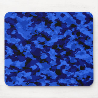 Blue Camouflage Mouse Pad