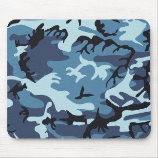 Blue Camouflage Mousepad