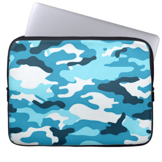 Blue camouflage | Neoprene Laptop Sleeve