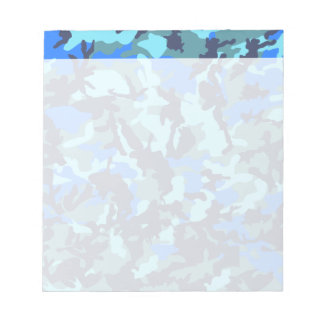 Blue Camouflage Notepad