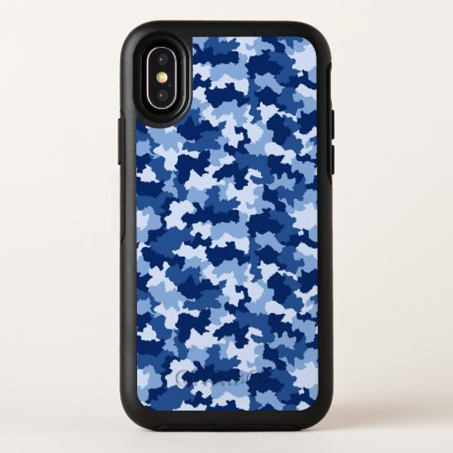 Blue Camouflage OtterBox Symmetry iPhone XS Case