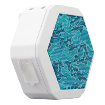 Blue Camouflage Pattern Boombot REX Speakers