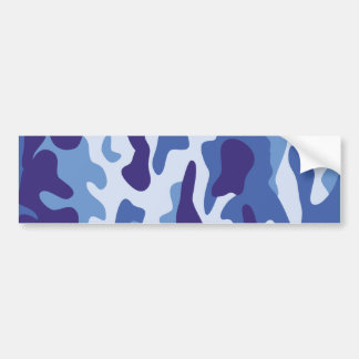 Blue camouflage pattern bumper sticker