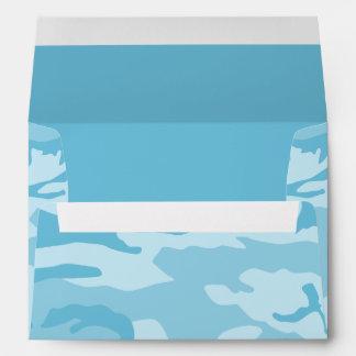 Blue Camouflage Pattern Envelope