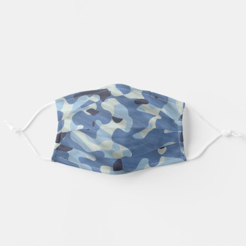 Blue Camouflage Pattern Simple For Him Cloth Face Mask