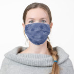 Blue Camouflage Puzzle Pieces Pattern Funny Adult Cloth Face Mask