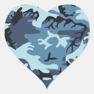 Blue Camouflage Sticker