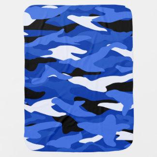 Blue camouflage receiving blanket