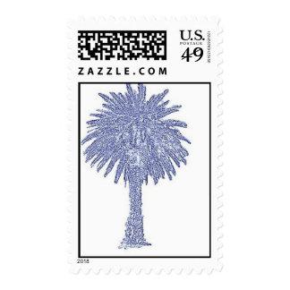 Blue Canary Island Date Palm Tree Postage