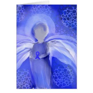 Blue Cancer Awareness Angel Card