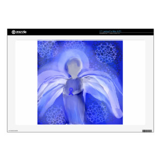 Blue Cancer Awareness Angel Decals For Laptops