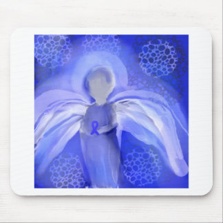Blue Cancer Awareness Angel Mouse Pad