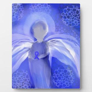 Blue Cancer Awareness Angel Plaque