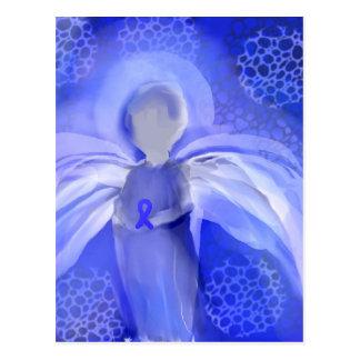 Blue Cancer Awareness Angel Postcard