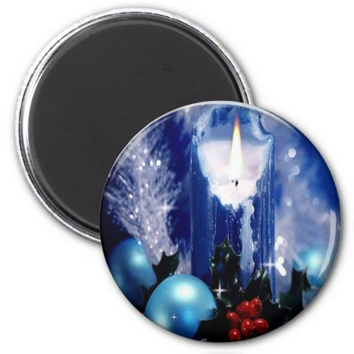 Blue candle magnet