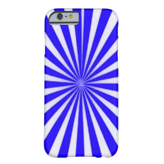 Blue Candy Cane Star Burst Barely There iPhone 6 Case