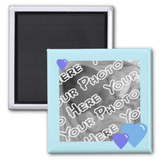 Blue Candy Hearts Magnet
