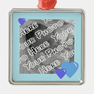 Blue Candy Hearts Ornament