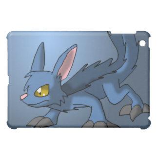 Blue Canid Dragon Hybrid Fantasy Cartoon Art Cute iPad Mini Cover