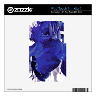 Blue Canna Lily iPod Touch 4G Decal