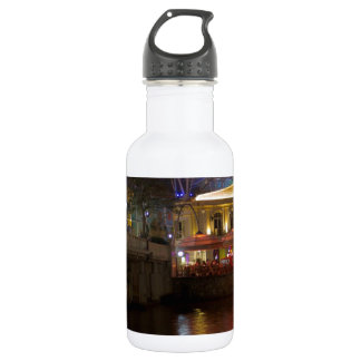Blue Canopy and river at Clarke Quay in Singapore Stainless Steel Water Bottle
