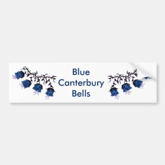 Blue Canterbury Bells on Vine Flowers Bumper Sticker