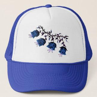 Blue Canterbury Bells on Vine Flowers Trucker Hat