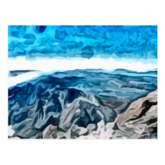Blue canyon painting postcard