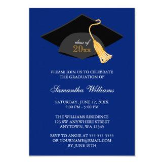 Blue Cap and Tassel Graduation Announcement