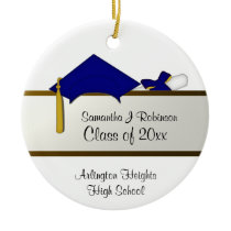 Blue Cap Graduation Ornament