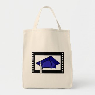 Blue Cap Silver Tassel bag
