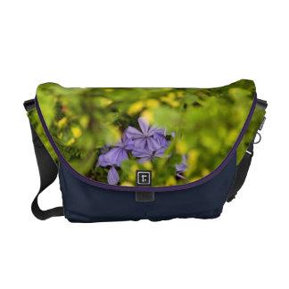 Blue Cape Plumbago Messenger Bag
