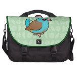 Blue-capped Cordonbleu Bag For Laptop