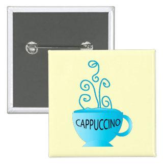 Blue Cappuccino Delight Pinback Button