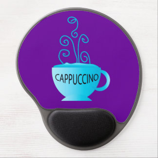 Blue Cappuccino Delight Gel Mouse Pads