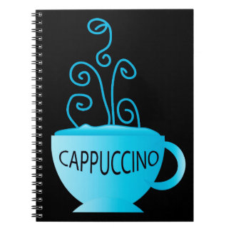 Blue Cappuccino Delight Spiral Notebook