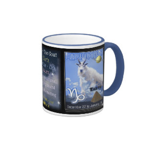 Blue Capricorn Zodiac large cup Mugs