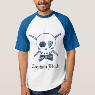 Blue Captain Hook Crochet Skull & Ruler Bow Tie Shirt