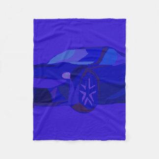 Blue Car Fleece Blanket