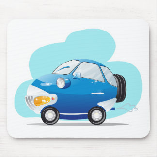 Blue car mouse pad