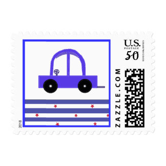 Blue Car Postage