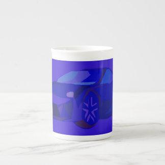 Blue Car Tea Cup