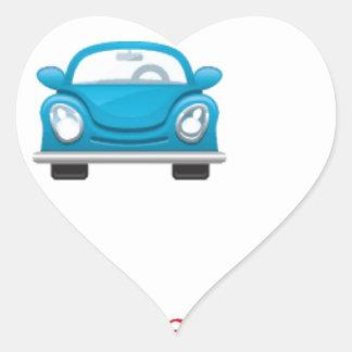Blue car heart sticker